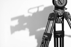Tripod Head and Camera Shadow in Television studio
